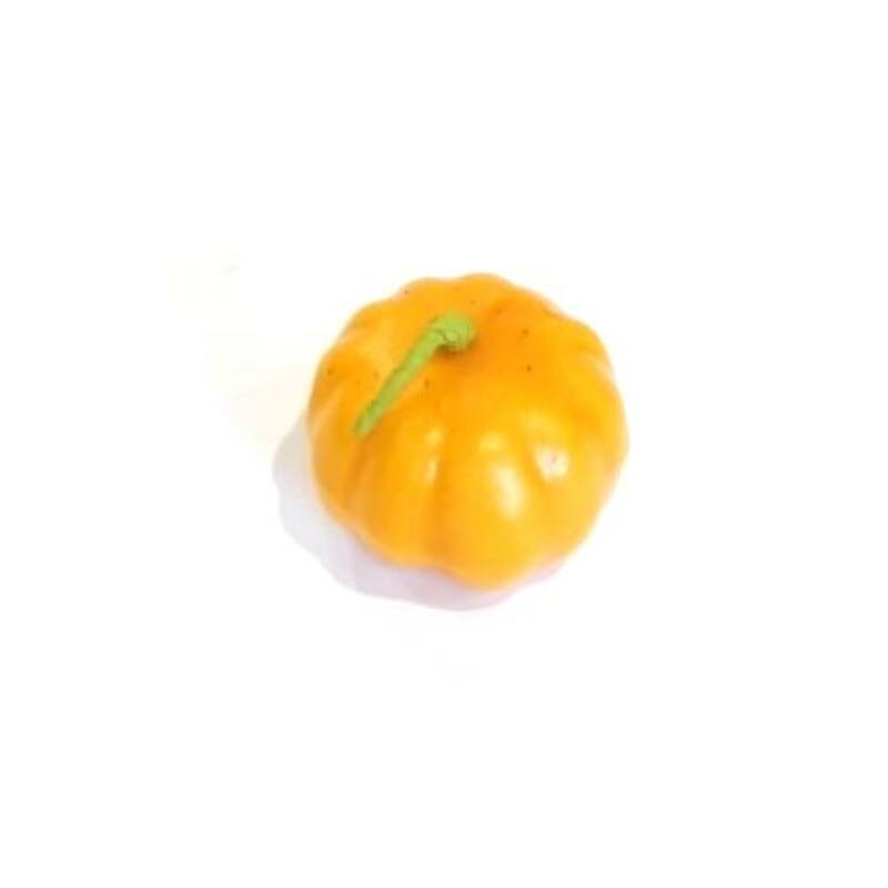 Tök dekoráció szárral,  4cm narancs